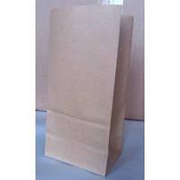 Пакеты бумажные подарочные плоское дно косметика мука чай пиво кофе фаст фуд (120х80х250 500шт/уп коричневый)
