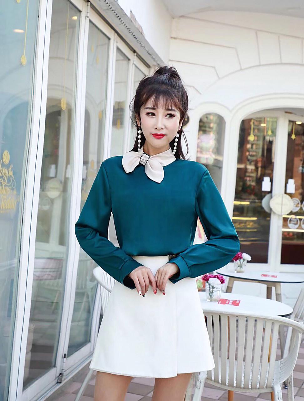Шикарная шелковая блуза Китай (в расцветках)
