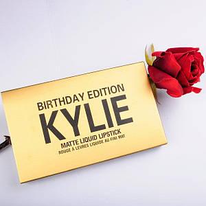 Набор жидких матовых помад Kylie Birthday Edition золото 129704