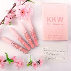 Набор помад в стиле Kylie Creme Liquid Lipsticks Kkw 129888