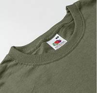 Мужские оливковые футболки Fruit of the Loom