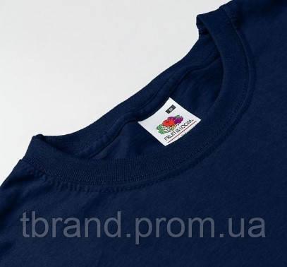 Мужские темно синие футболки Fruit of the Loom