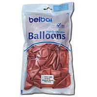 """Воздушные шары Belbal металлик 12""""(30 см) розовое золото 50 шт"""