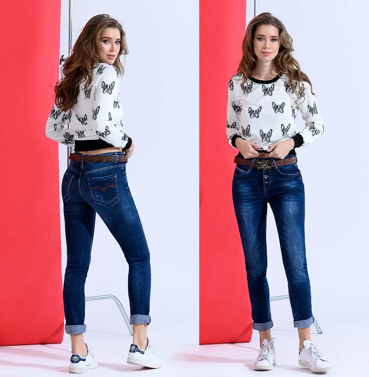 """Женский стильные джинсы на пуговицах """"1821"""""""