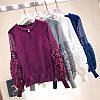 Трикотажный пуловер с объемными рукавами 42-46, фото 5