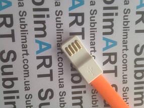 Usb кабель 20 см для Samsung, Lenovo, HTC, и т. д. (оранжевый), фото 3