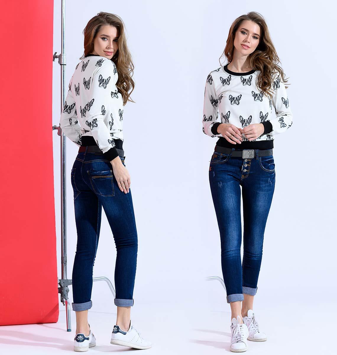 """Стильные женские джинсы чинос на пуговицах """"1820"""""""