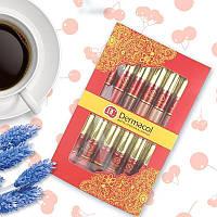 Набор матовых помад и блесков для губ 12 шт в стиле Dermacol DC Дермакол 131701