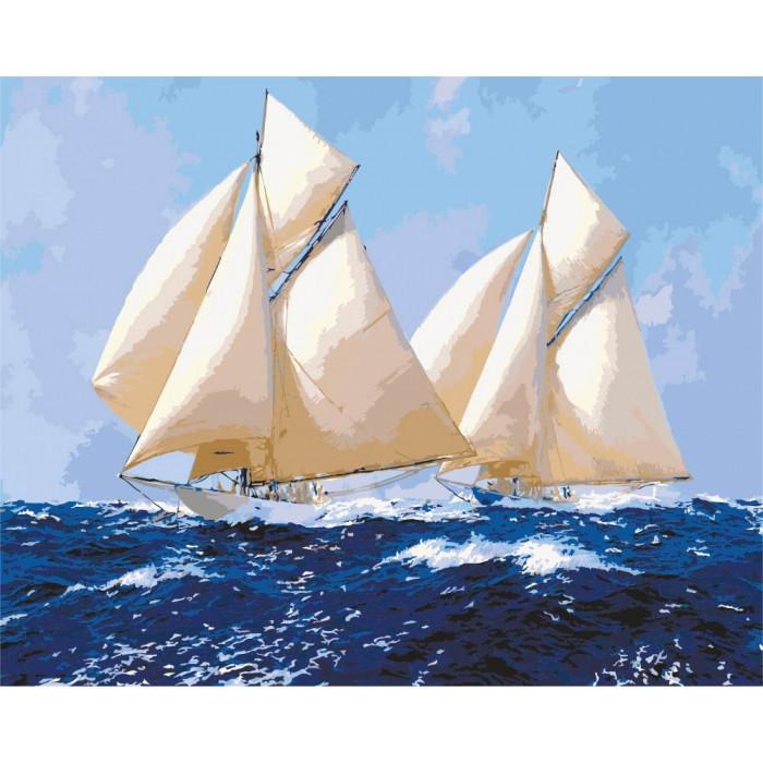 "Картина по номерам. Морской пейзаж ""Парусники 2"" 40*50см KHO2720"
