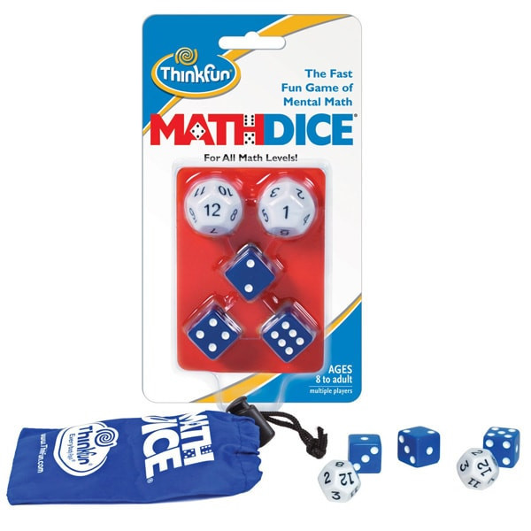 Игра-головоломка Math Dice (Математические кубики) ThinkFun 1510 Игра-головоломка Math Dice (Математические кубики) ThinkFun 1510