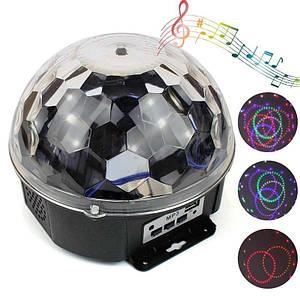 Светодиодный музыкальный диско шар Led Music Ball Light 138433