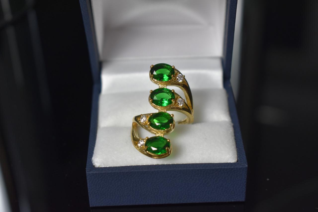 Серебряное кольцо с камнями Алпанит