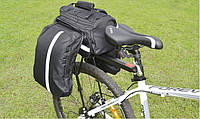 Сумка-трансформер на багажник VS-13, велоштаны