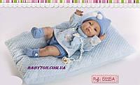 Испанский пупс мальчик, 42 см, виниловый пупс младенец Berbesa 5115A