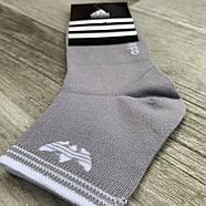 Носки женские спортивные демисезонные х/б Adidas, Турция, серые, средние, 06173, фото 2