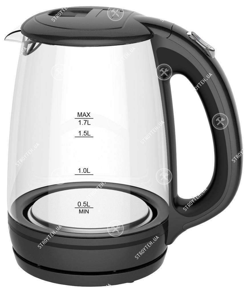 Grunhelm EKP-1703GB Электрочайник стеклянный (черный)