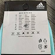Носки женские спортивные демисезонные х/б Adidas, Турция, цветное ассорти, короткие, 06176, фото 2