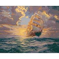 """Картина по номерам. Морской пейзаж """"Рассвет под парусами 40х50см KHO2715 Картина по номерам. Морской пейзаж """"Рассвет под парусами 40х50см KHO2715"""
