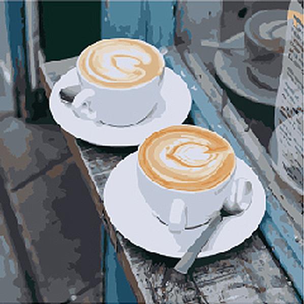 "Картины по номерам. Натюрморт ""Утренний аромат любви"" 40*40см KHO5537 Картины по номерам. Натюрморт ""Утренний аромат любви"" 40*40см KHO5537"