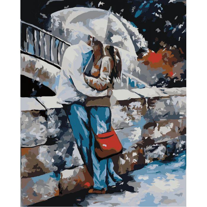 "Картина по номерам ""Под дождем""  KHO2658"