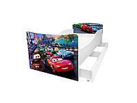 Кровать с ящиком Viorina-Deko Kinder 1 Белый с бордовым 70×140