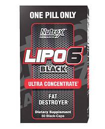 Жироспалювач Lipo6 Black Ultra Concentrate Nutrex 60 капсул
