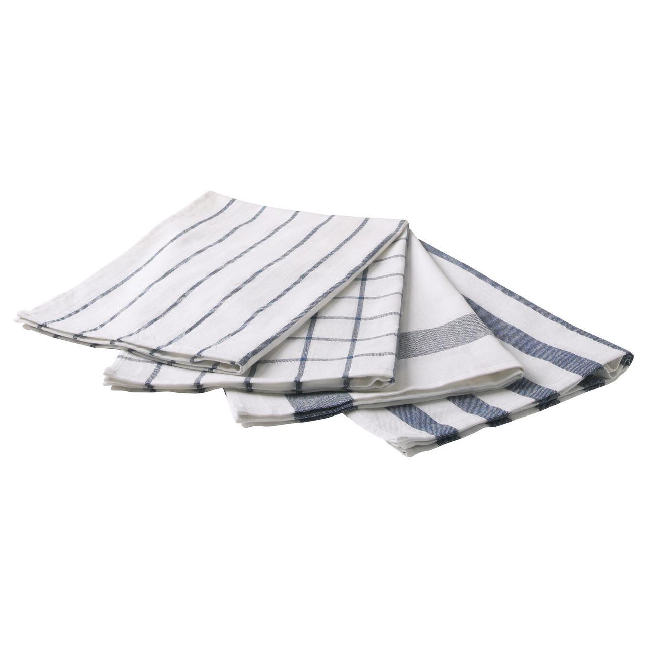 Полотенце кухонное икеа ELEE, белый, синий, IKEA, 700.696.37