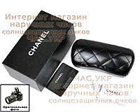 Кожаный футляр для солнцезащитных очков Chanel комплект чехол шанель, фото 1