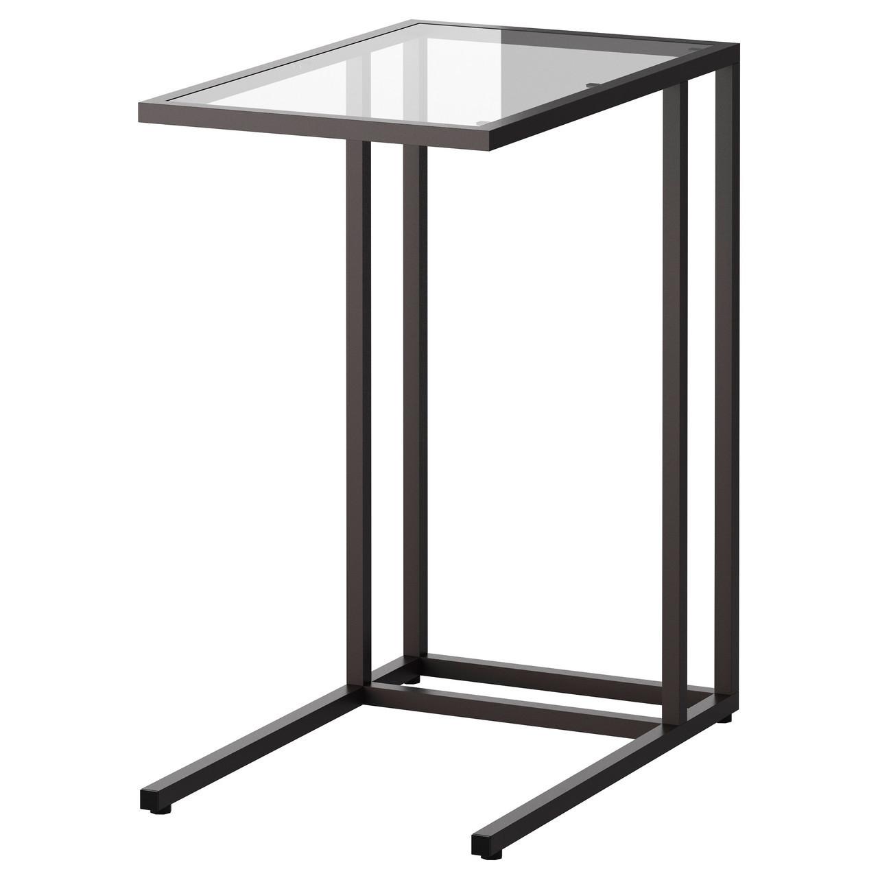 Подставка для ноутбука VITTSJÖ, черно-коричневый, стекло, IKEA, 002.502.49