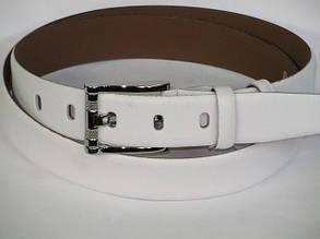 Элегантный кожаный ремень Mykhail Ikhtyar 3230 белый