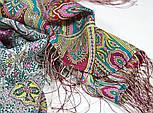 Царский 1159-54, павлопосадский шарф-палантин шерстяной с шелковой бахромой, фото 5