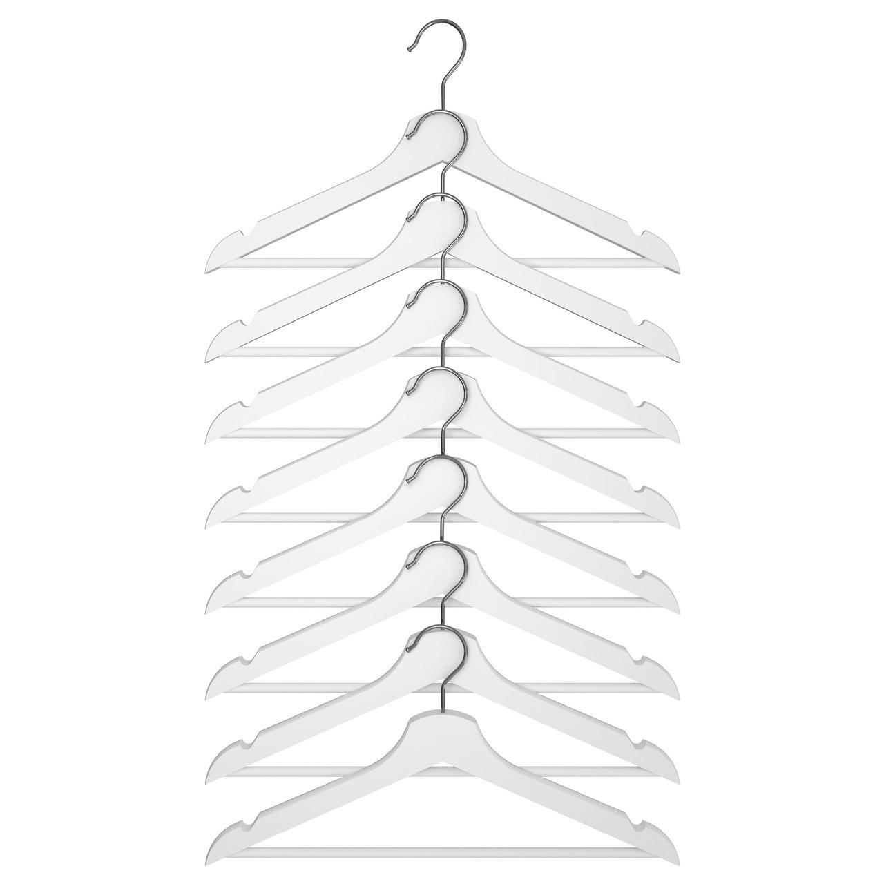 Плечики икеа BUMERANG, белые, IKEA, 702.385.41