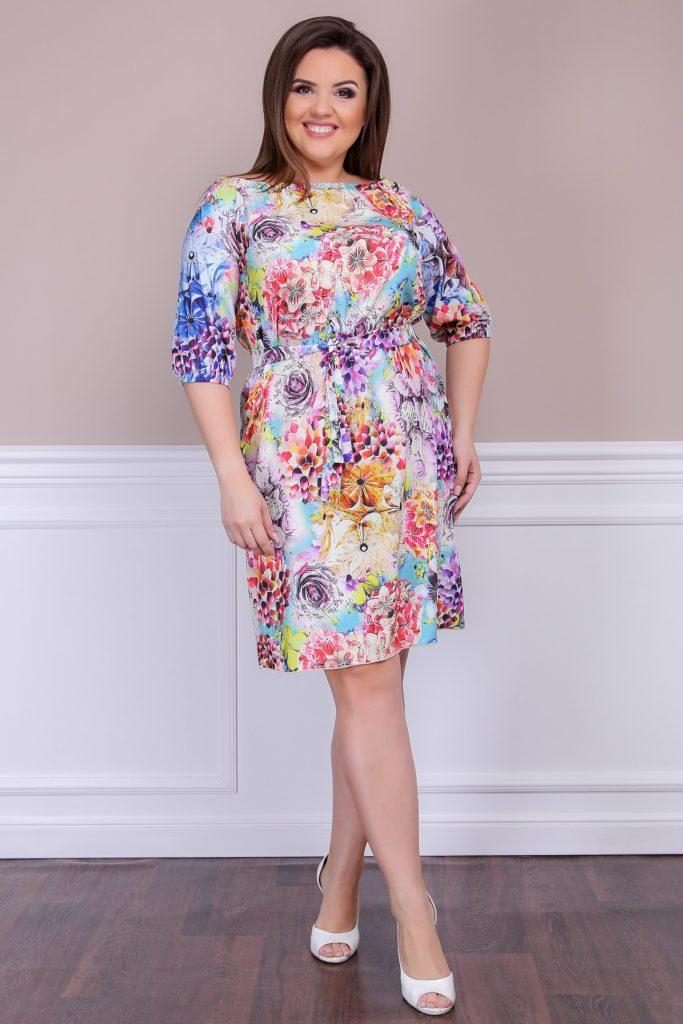 Летнее платье из софта расцветка 3 8254