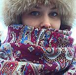 Мечта хрустальная 1683-57, павлопосадский платок шерстяной с шелковой бахромой, фото 5