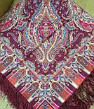Мечта хрустальная 1683-57, павлопосадский платок шерстяной с шелковой бахромой, фото 7