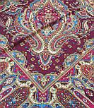 Мечта хрустальная 1683-57, павлопосадский платок шерстяной с шелковой бахромой, фото 6