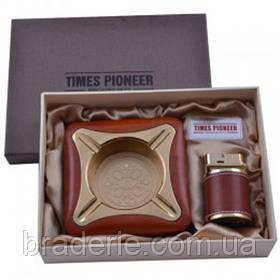 Подарунковий набір Pioneer 3622 в коробочці Запальничка та попільничка