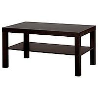 Журнальный столик икеа LACK, черно-коричневый, IKEA, 401.042.94