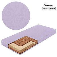 Матрац кокос - поролон - кокос - поликоттон №2 - цвет фиолетовый 20907 ТМ Беби-Текс