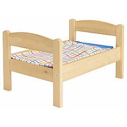 Кровать для куклы / набор постельного белья IKEA DUKTIG сосна разноцветный 400.863.51