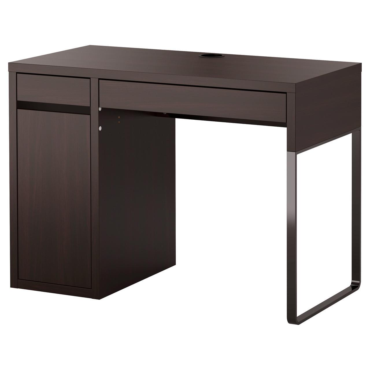 Письменный стол MICKE, черно-коричневый, IKEA, 102.447.43