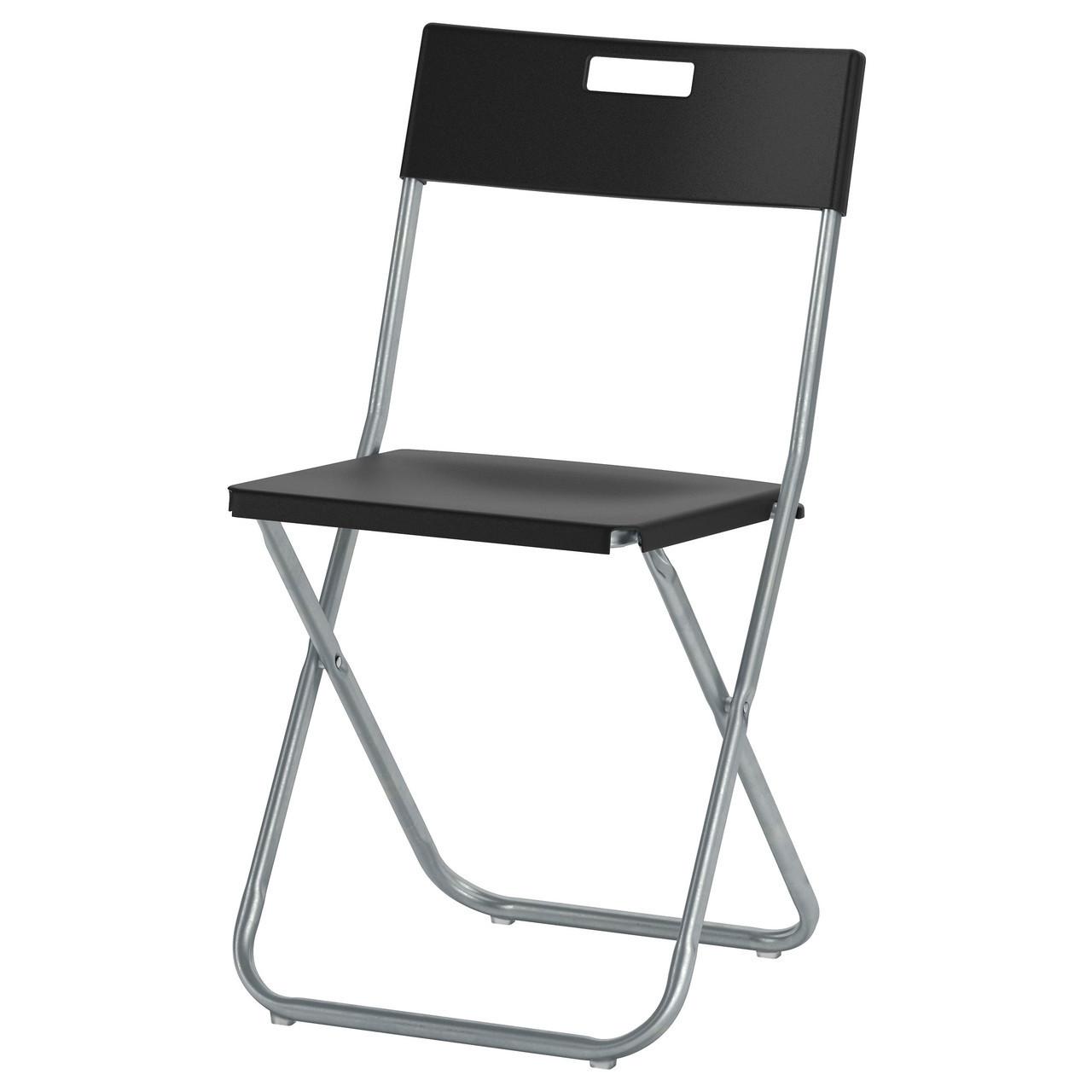 Cкладной стул GUNDE, черный, IKEA, 002.177.97
