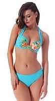 Голубой женский купальник с цветами Jolidon RF 37 46D Голубой Jolidon RF 37