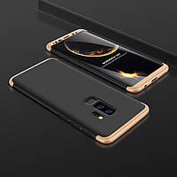 Чехол GKK 360 для Samsung S9 Plus / G965 бампер оригинальный накладка Black-Gold
