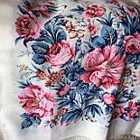 Утренний сад 363-3, павлопосадский платок шерстяной (двуниточная шерсть) с шелковой бахромой, фото 3