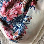 Утренний сад 363-3, павлопосадский платок шерстяной (двуниточная шерсть) с шелковой бахромой, фото 4