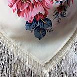 Утренний сад 363-3, павлопосадский платок шерстяной (двуниточная шерсть) с шелковой бахромой, фото 7