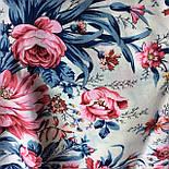 Утренний сад 363-3, павлопосадский платок шерстяной (двуниточная шерсть) с шелковой бахромой, фото 8