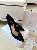 Красивые замшевые туфли с острым носком 3 цвета , фото 1