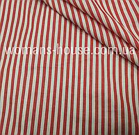 Рубашечная ткань атласная полоска 3 мм. Бордовый с белым